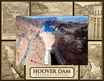 Hoover Dam Laser Engraved Wood Picture Frame