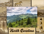 North Carolina Laser Engraved Wood Picture Frame
