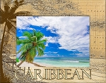 Caribbean Laser Engraved Wood Picture Frame