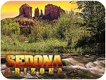 Sedona Arizona Cathedral Rock Fridge Magnet