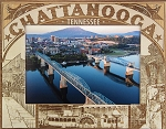 Chattanooga Tennessee Laser Engraved Wood Picture Frame