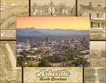Asheville North Carolina Laser Engraved Wood Picture Frame