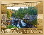 West Virginia Laser Engraved Wood Picture Frame