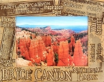 Bryce Canyon National Park Trail Names Laser Engraved Wood Picture Frame