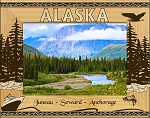 Alaska Ports Laser Engraved Wood Picture Frame