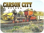 Carson City Nevada Fridge Magnet with Train