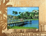 Panama City Beach Florida Laser Engraved Wood Picture Frame