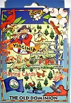 Virginia The Old Dominion State Road Map Souvenir Playing Cards