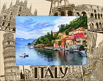 Italy Collage Laser Engraved Wood Picture Frame