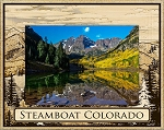 Steamboat Colorado Laser Engraved Wood Picture Frame