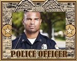 Police Officer Laser Engraved Wood Picture Frame