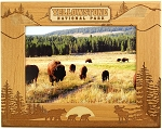 Yellowstone Bear and Moose Silhouettes Laser Engraved Wood Picture Frame (5 x 7)