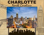 Charlotte North Carolina Laser Engraved Wood Picture Frame