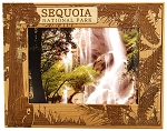 Sequoia National Park with Bear Laser Engraved Wood Picture Frame