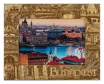 Budapest Laser Engraved Wood Picture Frame
