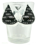 Outer Banks North Carolina OBX Black Bikini Double Sided Shot Glass