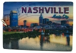 Nashville Tennessee Music City Double Sided 3D Key Chain