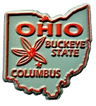 Ohio the Buckeye State Souvenir Fridge Magnet