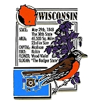 Wisconsin The Badger State Montage Fridge Magnet