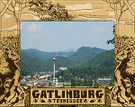 Gatlinburg Tennessee with Black Bears Laser Engraved Wood Picture Frame