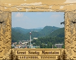 The Great Smoky Mountains Gatlinburg Tennessee Laser Engraved Wood Picture Frame