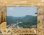 Gatlinburg Tennessee Landscape Sketch Laser Engraved Wood Picture Frame