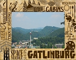 Gatlinburg Tennessee Attractions Laser Engraved Wood Picture Frame