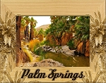 Palm Springs California Laser Engraved Wood Picture Frame (5 x 7)