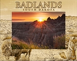 Badlands South Dakota Laser Engraved Wood Picture Frame (5 x 7)