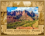 Zion National Park Angel's Landing Utah Laser Engraved Wood Picture Frame (5 x 7)