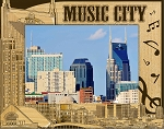 Music City Nashville Tennessee Laser Engraved Wood Picture Frame