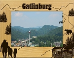 Gatlinburg Falls Laser Engraved Wood Picture Frame