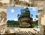 Wisconsin Dells Montage Laser Engraved Wood Picture Frame