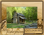 Our Honeymoon Gatlinburg Tennessee Laser Engraved Wood Picture Frame