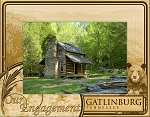 Our Engagement Gatlinburg Tennessee Laser Engraved Wood Picture Frame
