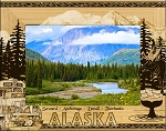 Alaska Cities Laser Engraved Wood Picture Frame