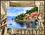 Italy Laser Engraved Wood Picture Frame (5 x 7)