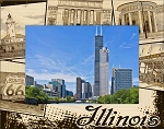 Illinois Laser Engraved Wood Picture Frame (5 x 7)