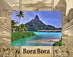 Bora Bora Laser Engraved Wood Picture Frame (5 x 7)
