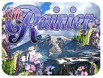 Mt. Rainier Washington Photo Fridge Magnet