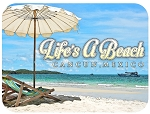 Cancun Mexico Life's a Beach Fridge Magnet with Umbrella