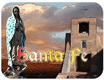 Santa Fe New Mexico Fridge Magnet