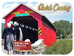 Amish Country Intercourse Pennsylvania with Covered Bridge Photo Fridge Magnet
