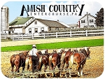 Amish Country Intercourse Pennsylvania with Horse Team Photo Fridge Magnet