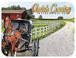 Amish Country Intercourse Pennsylvania with Carriage Photo Fridge Magnet