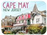 Cape May New Jersey Victorian Homes Fridge Magnet