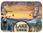 Lake Tahoe California with Wildlife Fridge Magnet