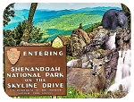 Shenandoah National Park on the Skyline Drive Fridge Magnet