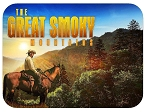 The Great Smoky Mountains with Cowboy at Sunset Photo Fridge Magnet
