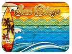 San Diego Surfing Fridge Magnet